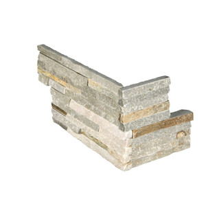 MS International Stacked Stone Series: Golden Honey 6X12X6 Split face Pencil Corner Ledger Panel LPNLQGLDHON618COR-PEN