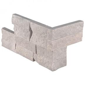 MS International Stacked Stone Series: Iceland Gray 6X12X6 Split Face Corner Ledger Panel LPNLTICEGRY618COR