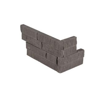 MS International Stacked Stone Series: Mountain Bluestone 6x12x6 Split Face Corner Ledger Panel LPNLDMOUBLU618COR