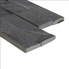 MS International Stacked Stone Series: Premium Black 6X12X6 Split Face Corner Ledger Panel LPNLSPREBLK618COR