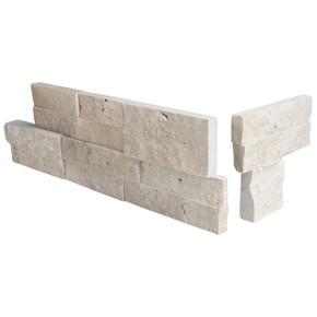 MS International Stacked Stone Series: Roman Beige 6X12X6 Split Face Corner Ledger Panel LPNLTROMBEI618COR