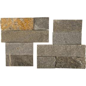 MS International Stacked Stone Series: Sedona Grey 6X6 Split Face Corner Ledger Panel LPNLQSEDGRY66COR