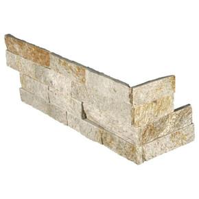 MS International Stacked Stone Series: Sparkling Autumn 6x12x6 Split Face Corner Ledger Panel LPNLQSPAAUT618COR
