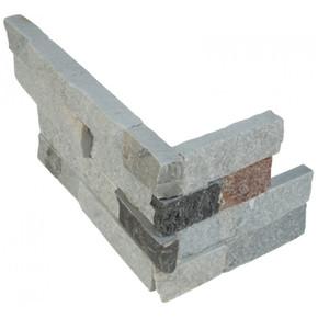 MS International Stacked Stone Series: Sunset Silver 6x12x6 Split Face Corner Ledger Panel LPNLQSUNSIL618COR