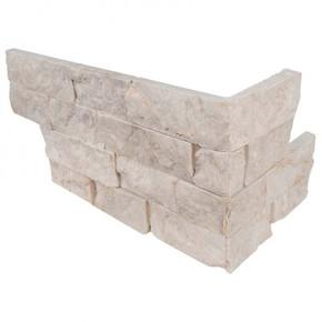 MS International Stacked Stone Series: Tiara Beige 6X12X6 Split Face Corner Ledger Panel LPNLLTIABEI618COR