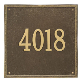 Whitehall Personalized Square Plaque – Estate -Wall – 1 line