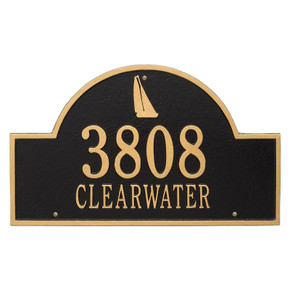 Whitehall Personalized Sailboat Arch Plaque