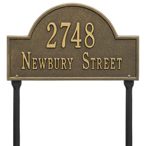 Whitehall Arch Marker – Standard Lawn – Two Line