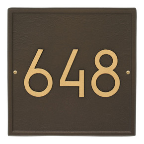Whitehall Square Modern Personalized Wall Plaque