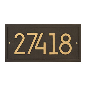 Whitehall Rectangle Modern Personalized Wall Plaque