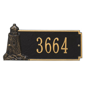 Whitehall Personalized Lighthouse Rectangle Plaque – One Line