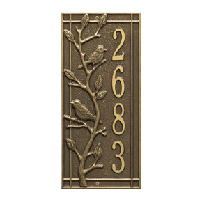 Whitehall Personalized Woodridge Vertical Wall Plaque