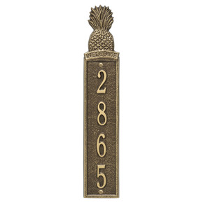 Whitehall Personalized Pineapple Vertical Wall Welcome Plaque