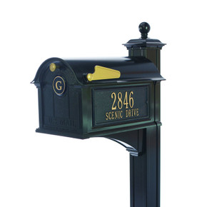 Whitehall Balmoral Mailbox Side Plaques, Monogram & Post Package