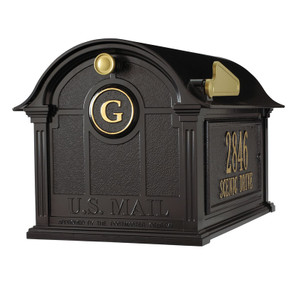 Whitehall Balmoral Mailbox Side Plaques and Monogram Package