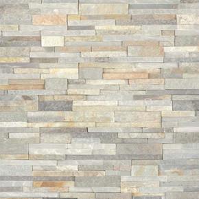 MS International Stacked Stone Series: 6x24 Malibu Honey Splitface Panel: LPNLQMALHON624