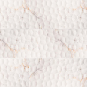MS International Ceramic Series: 12x24 Adella Viso Calacatta Satin Matte Finish Wall Tile NADEVISCAL1224
