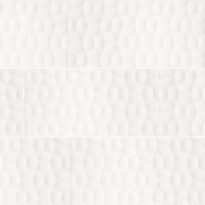 MS International Ceramic Series: 12x24 Adella Viso White Satin Matte Finish Wall Tile NADEVISWHI1224
