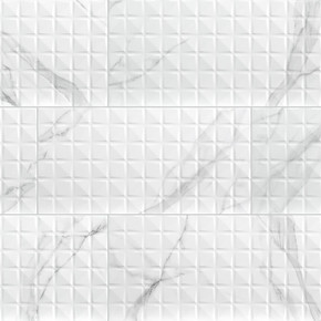 MS International Ceramic Series: 12x24 Dymo Statuary Chex White Wall Tile NDYMSTACHEWHI1224G-N