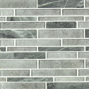 MS International Stone Glass Blend Series: 8mm Fountain Hills Interlocking Backsplash Wall SMOT-SGLSIL-FOUHIL8MM