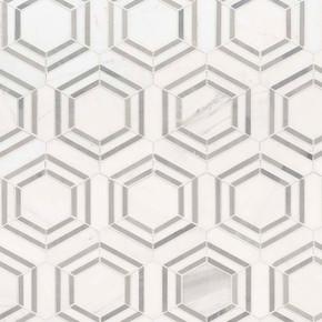 MS International Marble Series: Georama Grigoria Polished Backsplash Wall SMOT-GEORAMA-GRIGIOP