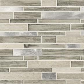 MS International Stone Glass Metal Series: Ocotillo Blend Interlocking Wall Tile SMOT-SGLSMTIL-OCO4MM