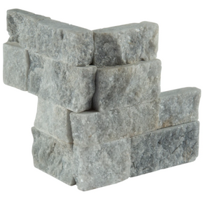 MS International Stacked Stone M-Series: Sky Gray 4.5X9 Split Face Mini Corner Ledger Panel LPNLQSKYGRY4.59COR-MINI