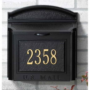 Wall Mailbox w/Personalized Plaque - Whitehall