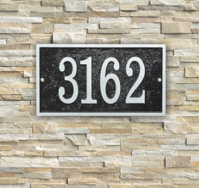 Ships in 4 Days  Rectangle House Numbers Plaque