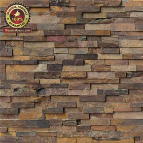 "MS International California Gold Ledger Panel 6"" x 24"" Natural Slate Wall Tile : LPNLSCALGLD624"
