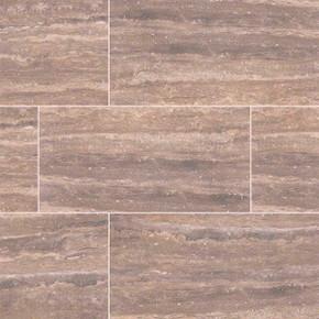 """MS International Pietra: Venata Noce 12"""" x 24"""" Porcelain Tile NPIEVENNOC1224P"""