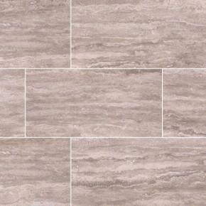 "MS International Pietra: Venata Gray 12"" x 24"" Porcelain Tile NPIEVENGRA1224P"
