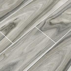 MS International Dellano Series: Moss Grey 8x48 Polished Wood Look Porcelain Tile NDELMOSGREY8X48P