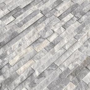 MS International Stacked Stone Series: Alaska Gray 6x24 Split Face Ledger Panel LPNLMALAGRY624