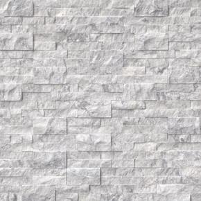 MS International Stacked Stone Series: 6x24 Arabescato Carrara Splitface Panel LPNLMARACAR624
