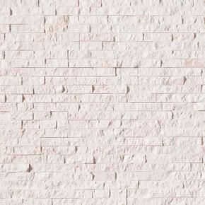MS International Stacked Stone Series: Freska White 6X24 Split Face Ledger Panel LPNLLMAYWHI624