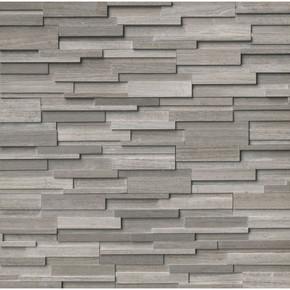 MS International Stacked Stone Series: Gray Oak 6X24 3D Honed Ledger Panel LPNLMGRYOAK624-3DH