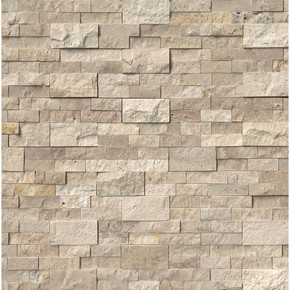 MS International Stacked Stone Series: Roman Beige 6X24 Split Face Ledger Panel LPNLTROMBEI624