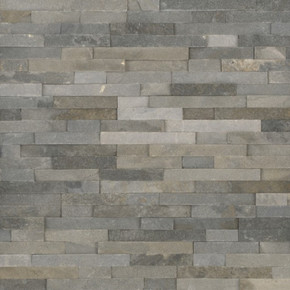 MS International Stacked Stone Series: Sedona Grey 6X24 Split Face Ledger Panel LPNLQSEDGRY624