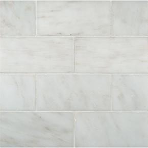 MS International Backsplash Series: Arabescato Carrara 3X6 Honed Subway Tile TARACAR36H