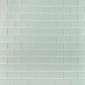 MS International Backsplash Series: Arctic Ice 2x4 Glass Subway Tile SMOT-GLSST-AI8MM