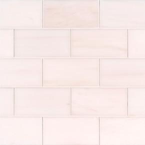 MS International Backsplash Series: Bianco Dolomite 3x6 Polished Subway Tile TBIANDOL36P