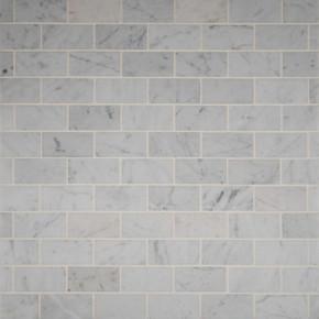 MS International Backsplash Series: Carrara White 2x4 Polished Mosaic Subway Tile SMOT-CAR-2X4P
