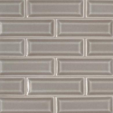 MS International Backsplash Series: Dove Gray 2x6 Bevel Subway Tile SMOT-PT-DG-2X6B