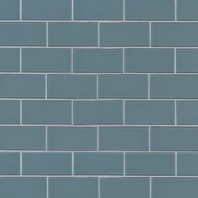MS International Backsplash Series: Harbor Gray 3X6 Glass Subway Tile SMOT-GL-T-HAGR36