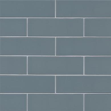 MS International Backsplash Series: Harbor Gray 4x12 Glass Subway Tile SMOT-GL-T-HAGR412