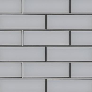 MS International Backsplash Series: Ice Bevel 4x12 Glossy Glass Subway Tile SMOT-GL-T-ICEBE412