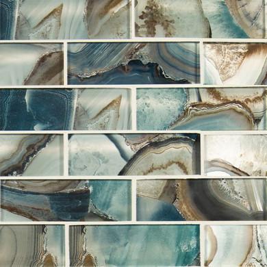 MS International Backsplash Series: Night Sky 2x6 Glass Backsplash Subway Tile SMOT-GLSST-NIGSKY8MM