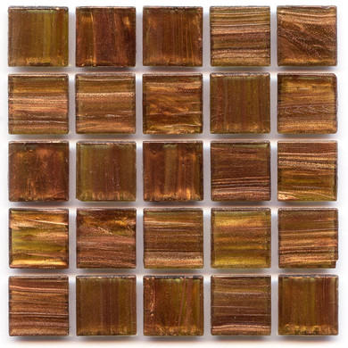 Madrone 0.75 x 0.75 Glass Mosaic Tile