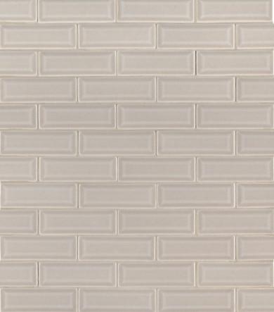 MS International Backsplash Series: Portico Pearl 2x6 Bevel Subway Ceramic Tile SMOT-PT-PORPEA-2X6B